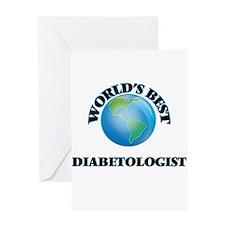 World's Best Diabetologist Greeting Cards