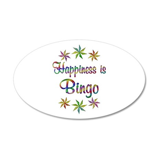 Happiness is Bingo 20x12 Oval Wall Decal