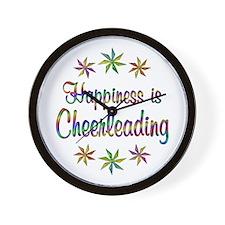 Happiness is Cheerleading Wall Clock