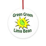 Green Green Lima Bean Tree Ornament