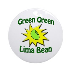 Green Green Lima Bean Tree Ornament