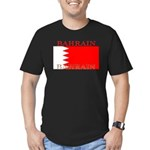 Bahrainblack.png Men's Fitted T-Shirt (dark)