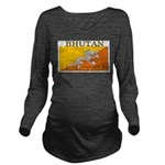 Bhutan.jpg Long Sleeve Maternity T-Shirt