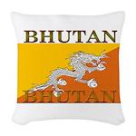 Bhutan.jpg Woven Throw Pillow