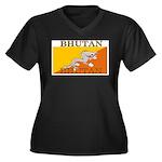 Bhutan.jpg Women's Plus Size V-Neck Dark T-Shirt