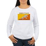 Bhutan.jpg Women's Long Sleeve T-Shirt