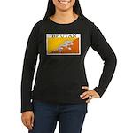 Bhutan.jpg Women's Long Sleeve Dark T-Shirt