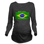 Brazilblack.png Long Sleeve Maternity T-Shirt