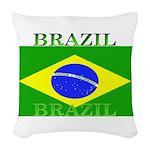 Brazilblack.png Woven Throw Pillow