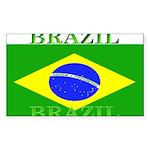 Brazilblack.png Sticker (Rectangle 10 pk)