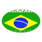 Brazilblack.png Sticker (Oval 10 pk)