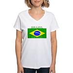 Brazilblack.png Women's V-Neck T-Shirt