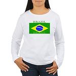 Brazilblack.png Women's Long Sleeve T-Shirt