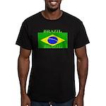 Brazilblack.png Men's Fitted T-Shirt (dark)