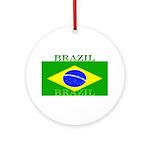 Brazilblack.png Ornament (Round)