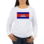 Cambodiablank.jpg Women's Long Sleeve T-Shirt