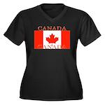 Canada.jpg Women's Plus Size V-Neck Dark T-Shirt