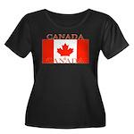 Canada.jpg Women's Plus Size Scoop Neck Dark T-Shi