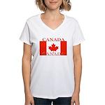Canada.jpg Women's V-Neck T-Shirt