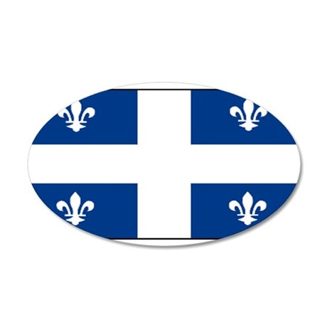 Quebecblank.jpg 35x21 Oval Wall Decal