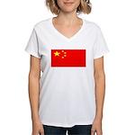 Chinablank.jpg Women's V-Neck T-Shirt