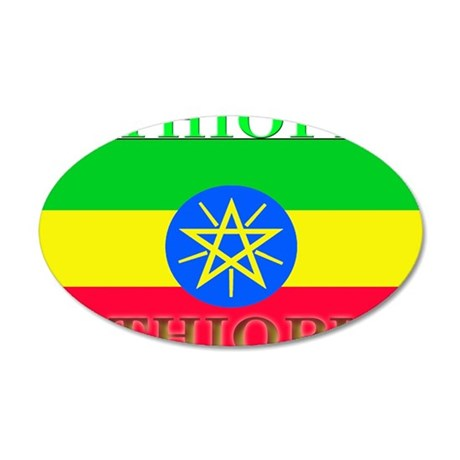 Ethiopia.png 35x21 Oval Wall Decal