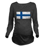 Finlandblank.jpg Long Sleeve Maternity T-Shirt