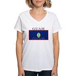 Guam.jpg Women's V-Neck T-Shirt