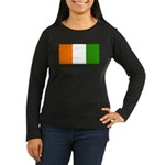 IvoryCoastblank.jpg Women's Long Sleeve Dark T-Shi