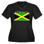 Jamaica.jpg Women's Plus Size V-Neck Dark T-Shirt