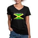 Jamaica.jpg Women's V-Neck Dark T-Shirt
