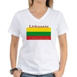 Lithuania.jpg Women's V-Neck T-Shirt
