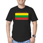 Lithuania.jpg Men's Fitted T-Shirt (dark)