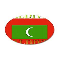 Maldives.jpg 35x21 Oval Wall Decal