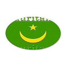 Mauritania.jpg 35x21 Oval Wall Decal