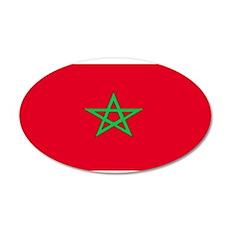 Moroccoblackblank.png 35x21 Oval Wall Decal