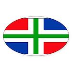 Groningenblank.jpg Sticker (Oval 50 pk)