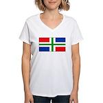 Groningenblank.jpg Women's V-Neck T-Shirt