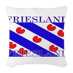 Frieslandblack.png Woven Throw Pillow