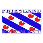 Frieslandblack.png Sticker (Rectangle 10 pk)