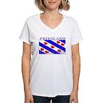 Frieslandblack.png Women's V-Neck T-Shirt