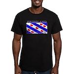 Frieslandblack.png Men's Fitted T-Shirt (dark)