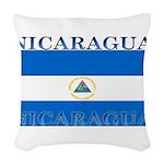 Nicaragua.jpg Woven Throw Pillow