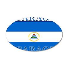 Nicaragua.jpg 35x21 Oval Wall Decal