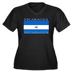 Nicaragua.jpg Women's Plus Size V-Neck Dark T-Shir