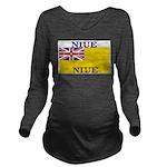 Niue.jpg Long Sleeve Maternity T-Shirt