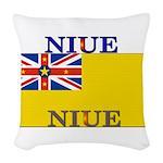 Niue.jpg Woven Throw Pillow