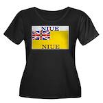 Niue.jpg Women's Plus Size Scoop Neck Dark T-Shirt