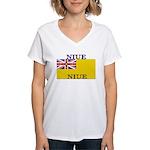 Niue.jpg Women's V-Neck T-Shirt