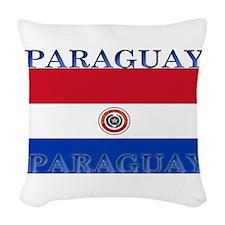 Paraguayblack.png Woven Throw Pillow